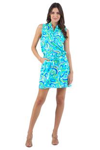 IBKUL Emma Drawstring Dress