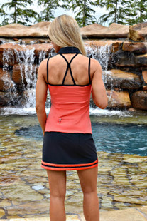 FlirTee Strap Back Golf Polo Coral
