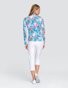 Tail Ani UV50 Long Sleeve Sun Mock - Pineapple Paradise