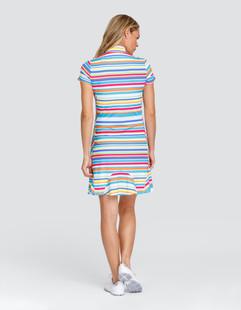 Tail Vana UV50 Short Sleeve Golf Dress - Tropic Stripe
