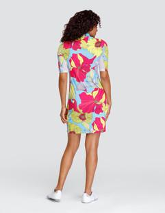 Tail Dee UV50 Short Sleeve Golf Dress - Delicate Blooms