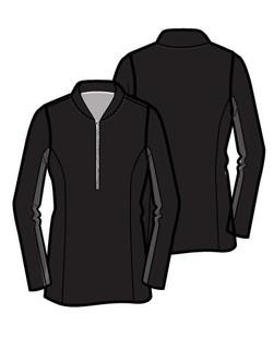 Amy Sport Katelyn Long Sleeve Mock - Black