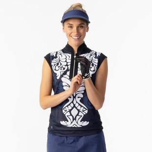 Daily Sports Malgo Navy Cap Sleeve Mock