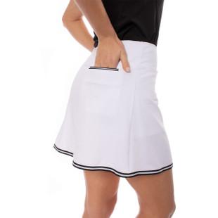 "White with Black Trim Pull-On Stretch Skort 16.5"" | Ice Ice Baby"