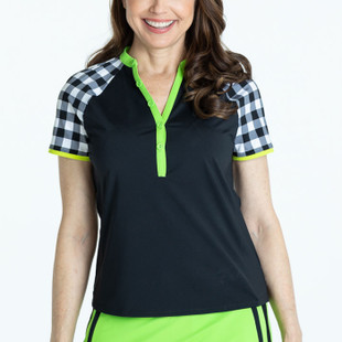 Swing For The Fences Short Sleeve Top - Black