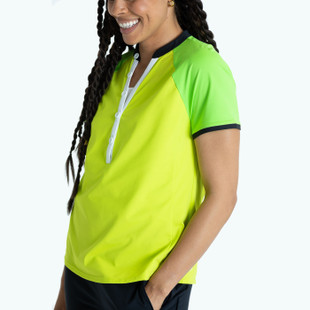 Swing For The Fences Short Sleeve Top - Chartreuse