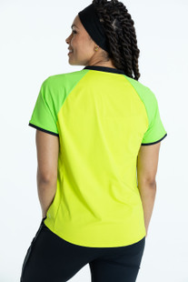 KINONA Swing For The Fences Short Sleeve Top - Chartreuse