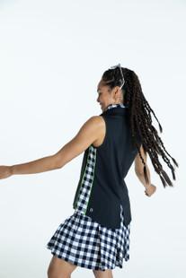 KINONA Slimming Sleeveless Splouse Polo - Black
