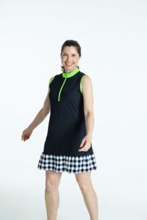 Show Stopper Sleeveless Golf Dress - Black