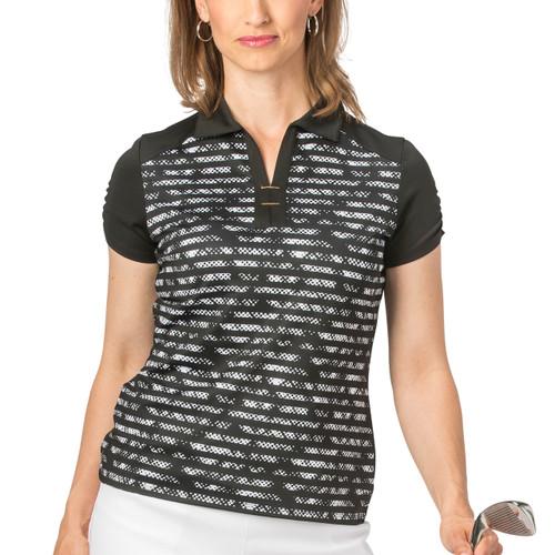 55ccc0d6822 Nancy Lopez Race Short Sleeve Polo - Black