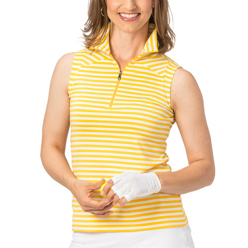 43e986ab6d81d Nancy Lopez Flight Sleeveless Polo - Daffodil