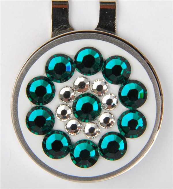 Blingo Ballmark with Hat Clip - Emerald