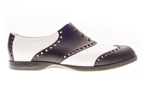 BIION Classics Golf Shoe - White & Black