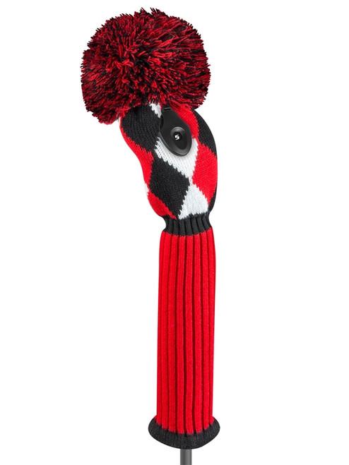 Diamond Fairway Headcover Red, Black, & White