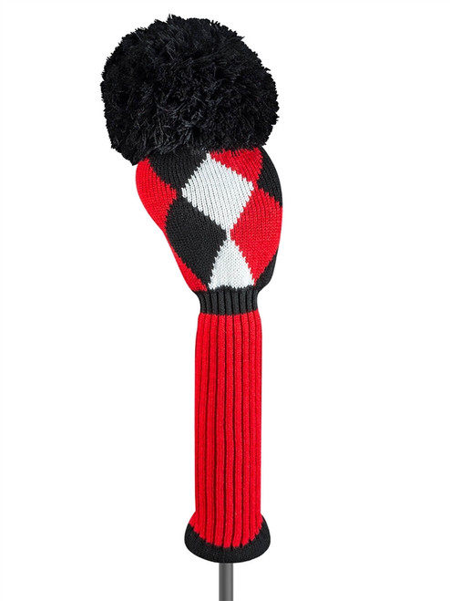 Just4Golf Driver Headcover - Red/Black Diamonds