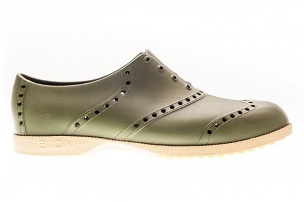 BIION Brights Golf Shoe - Green & Khaki