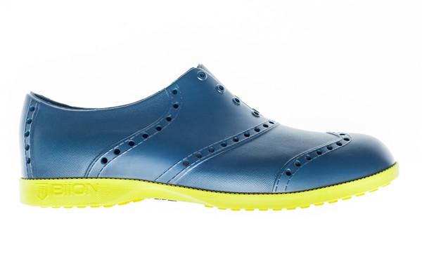 BIION Brights Golf Shoe - Navy & Yellow