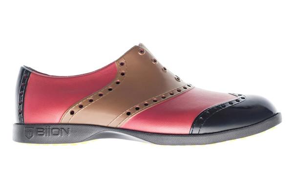BIION Wingtips Golf Shoe - Mud Brown, Brick Red