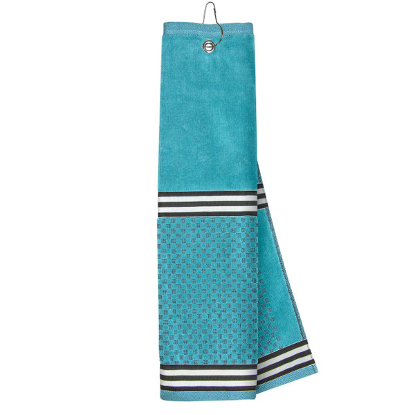 Turquoise Towel with Ribbon