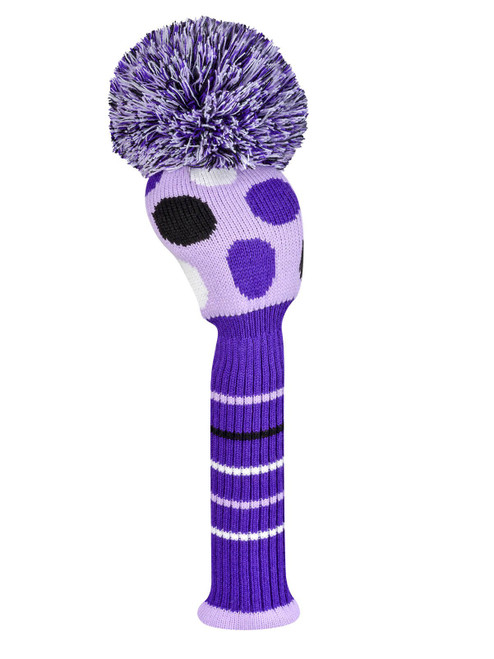 Just4Golf Driver Headcover - Purple Dots