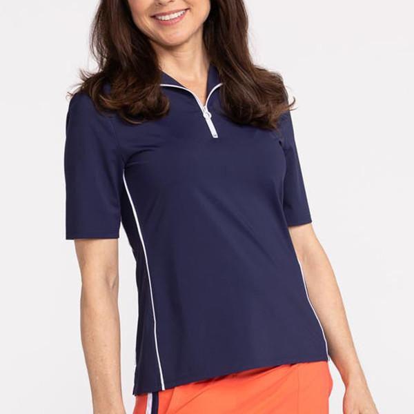 KINONA Keep it Covered Short Sleeve Golf Top - Navy