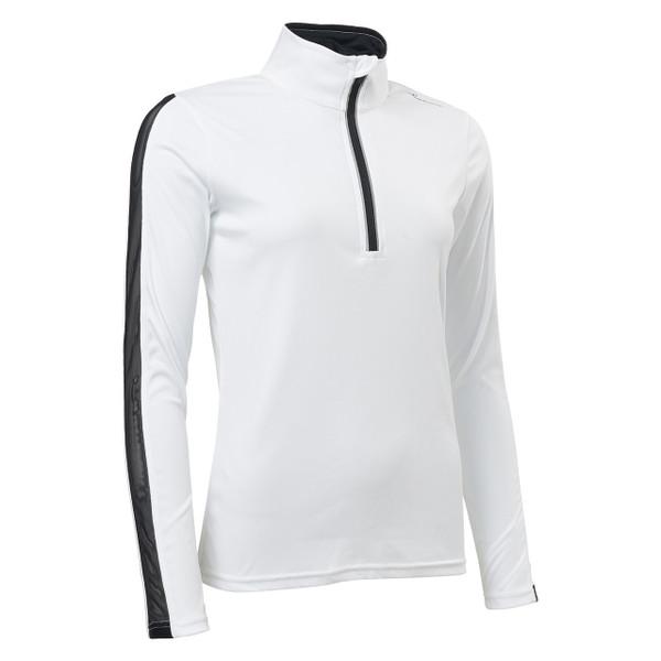 Sunburry Long Sleeve Mock - White