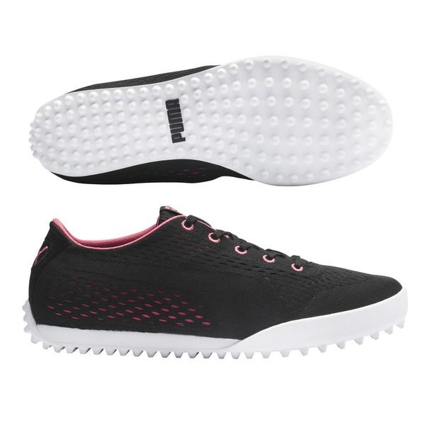 Puma Monolite Cat EM Golf Shoe - Black/Rapture Rose