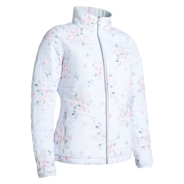 Abacus Heaven Reversible Padded Jacket - Fog Melange
