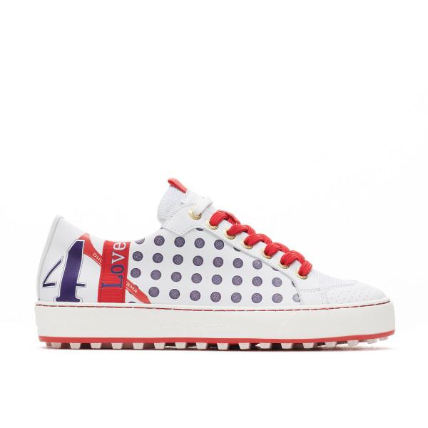 Esti White / Red Golf Shoe