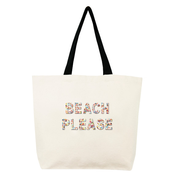 Fallon & Royce Confetti Bead Tote - Beach Please