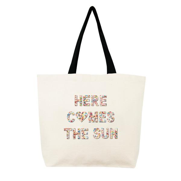 Fallon & Royce Confetti Bead Tote - Here Comes The Sun