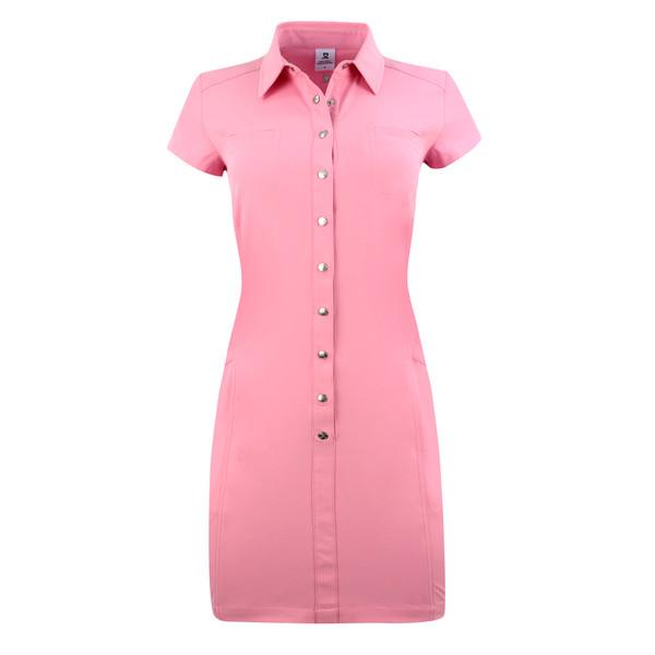 Lyric Short Sleeve Golf Dress - Lipstick