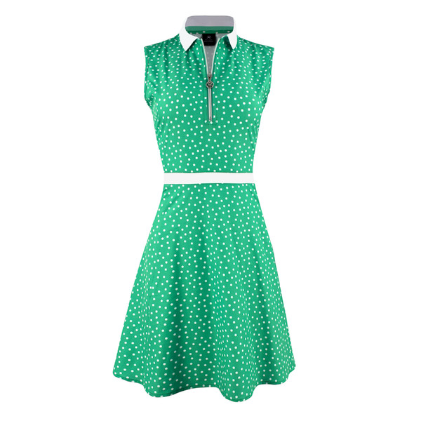 Eileen Sleeveless Dress - Seaweed Dots