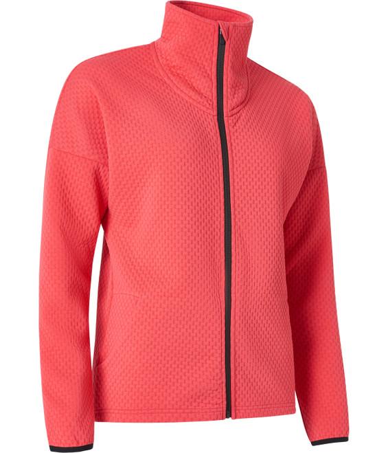 Abacus Sunningdale Knit Fleece Jacket - Exotic Coral
