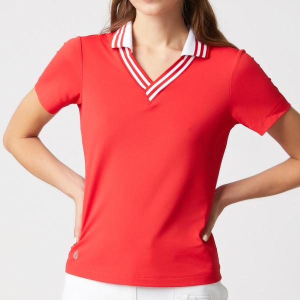 GGblue Elisha Short Sleeve Polo - Estate Red