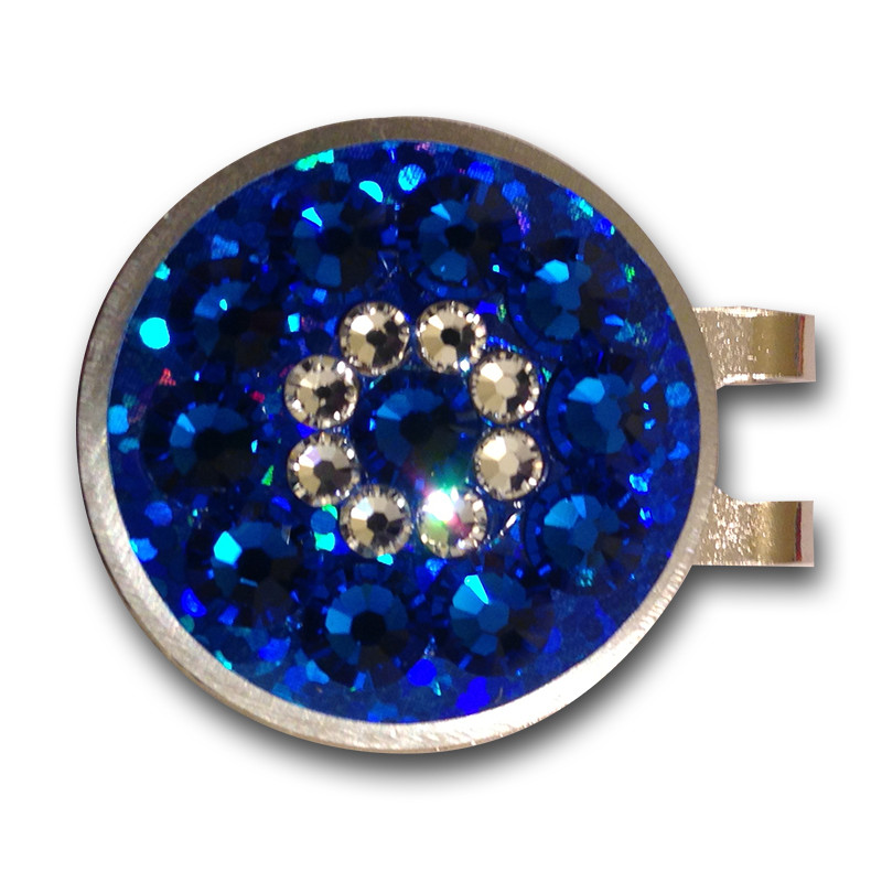 Base: Blue Reflective Outer Ring: Blue Inner Ring: Crystal  Center: Blue
