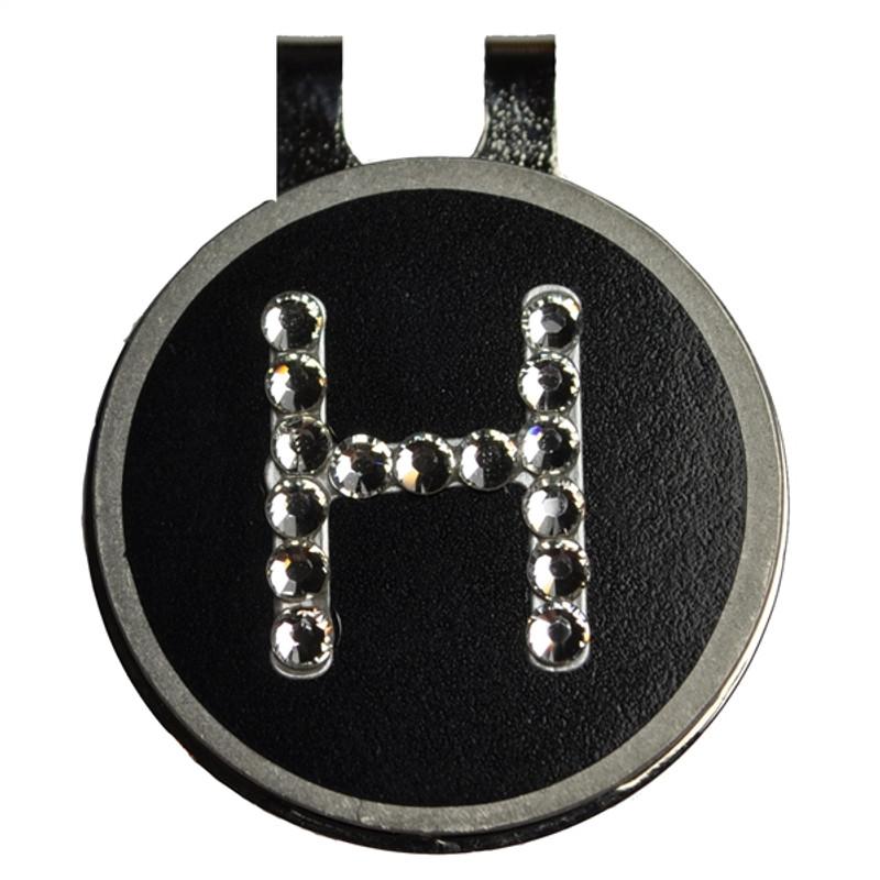 Blingo Ballmarks - Crystal Initial/Black