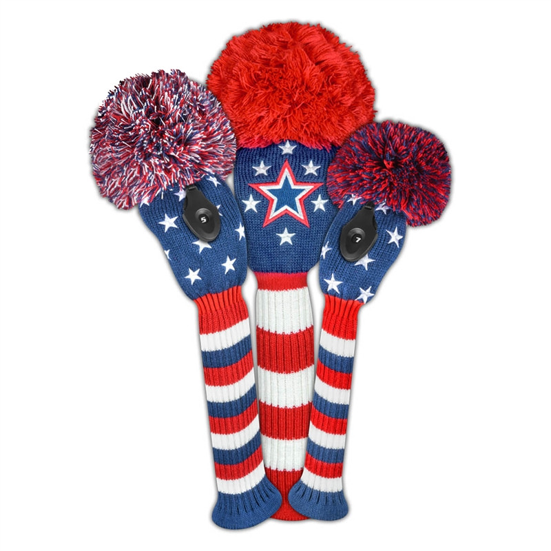 Just4Golf Headcover Set (3pc) - Stars + Stripes