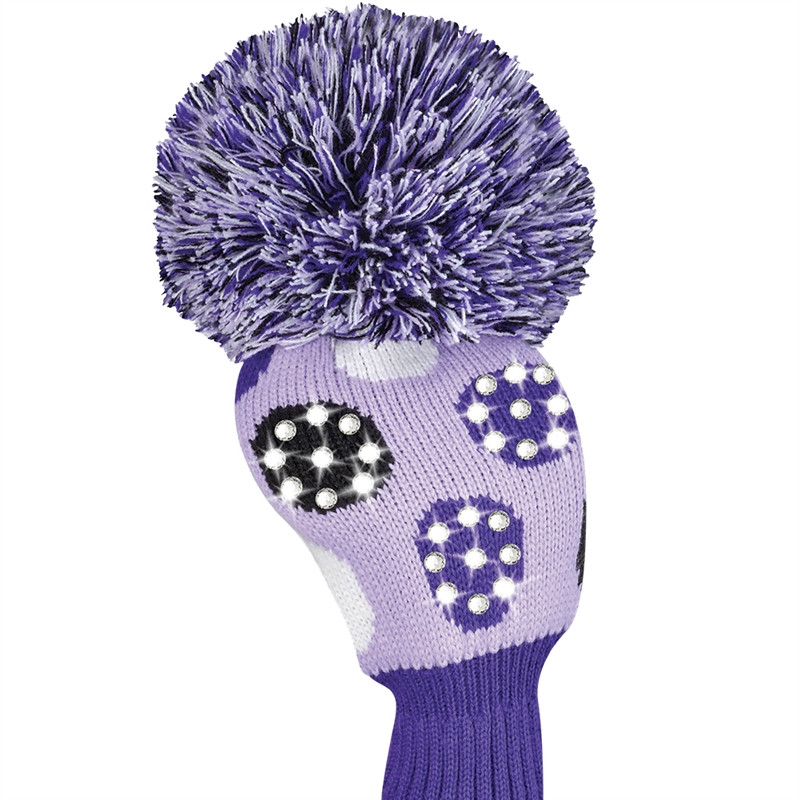 Just4Golf Sparkle Driver Headcover - Purple Dot