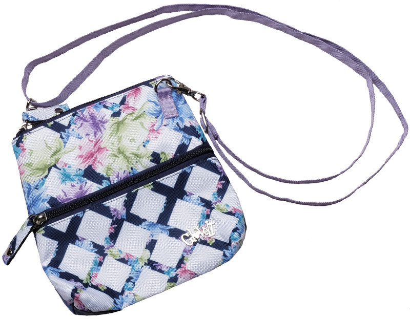 Glove It 2-Zip Cross Body Bag - Pastel Lattice