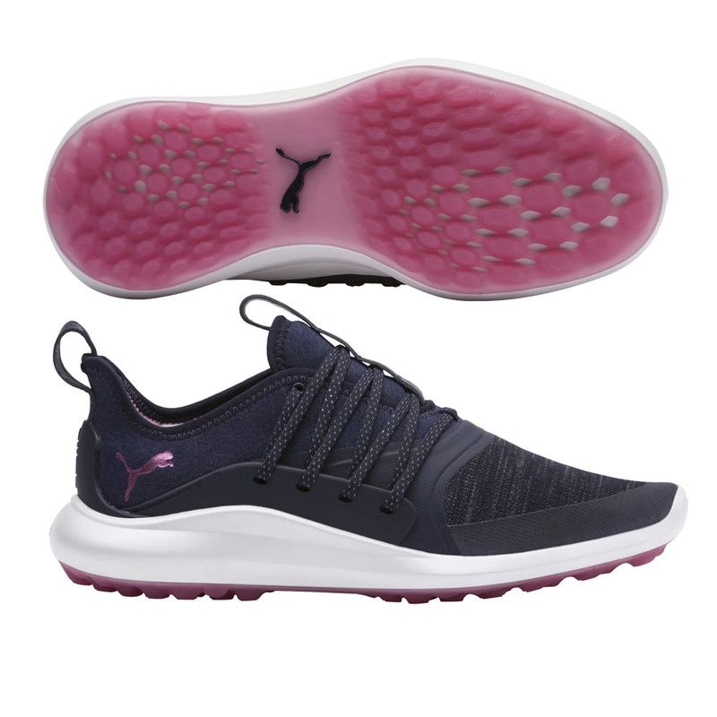 Puma IGNITE NXT Golf Shoe - Peacoat/Metallic Pink
