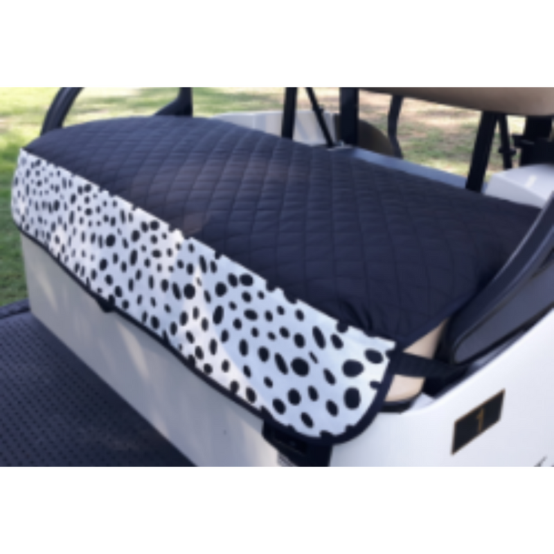 GolfChic Quilted Golf Cart Seat Cover - Black/White TOGO