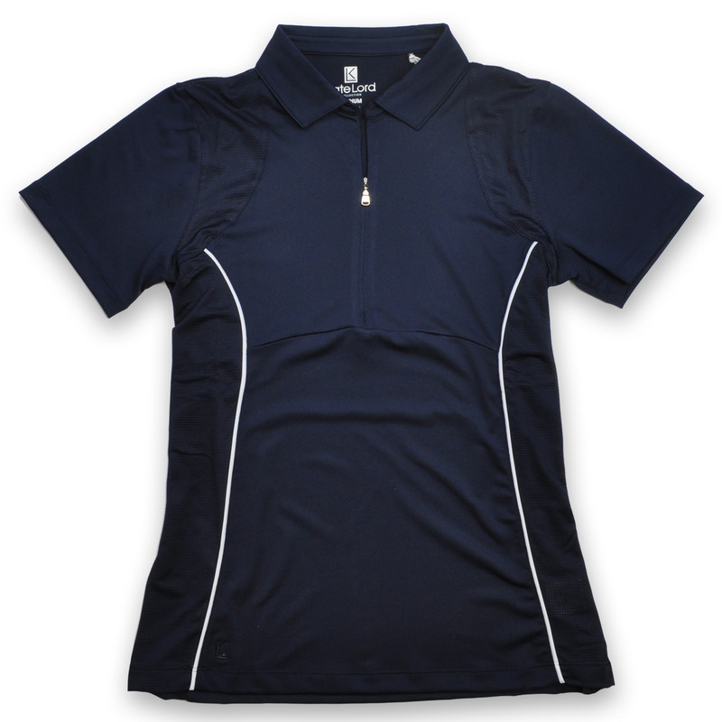 Kate Lord Riverbend Short Sleeve Polo - Navy