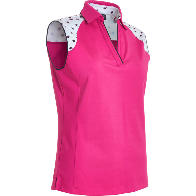 Abacus Emy Sleeveless Polo - Power Pink