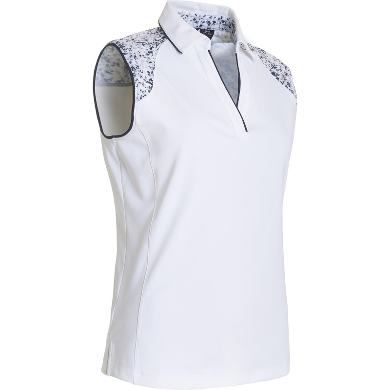Abacus Emy Sleeveless Polo - White