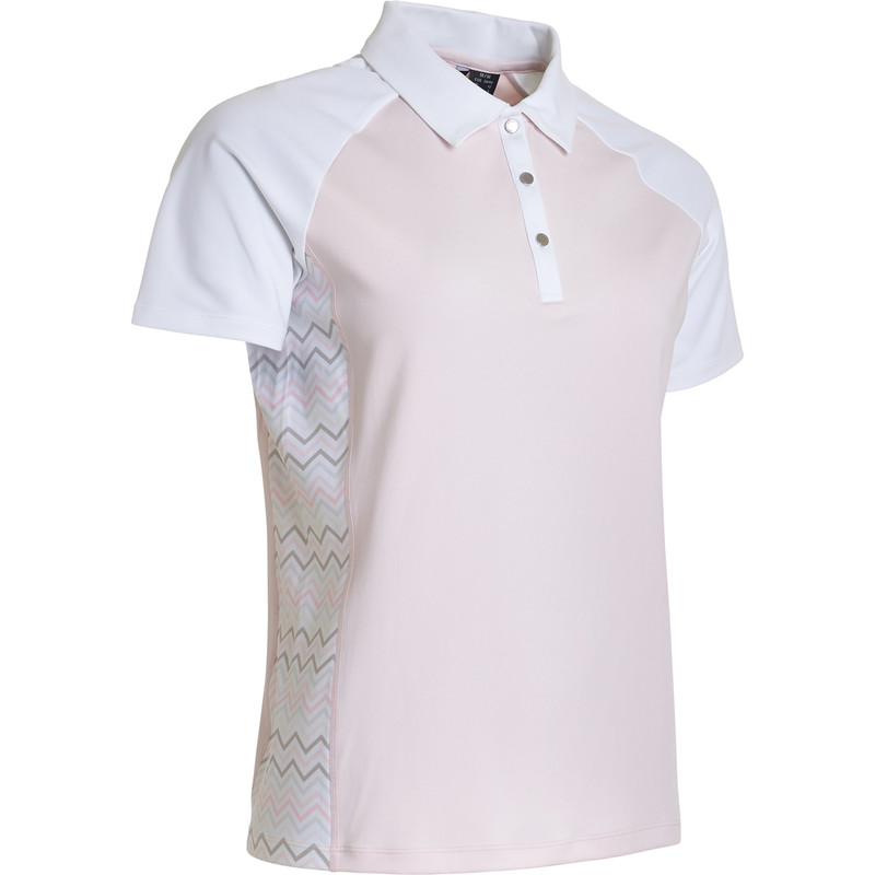 Abacus Emy Short Sleeve Polo - Herbal Zig Zag