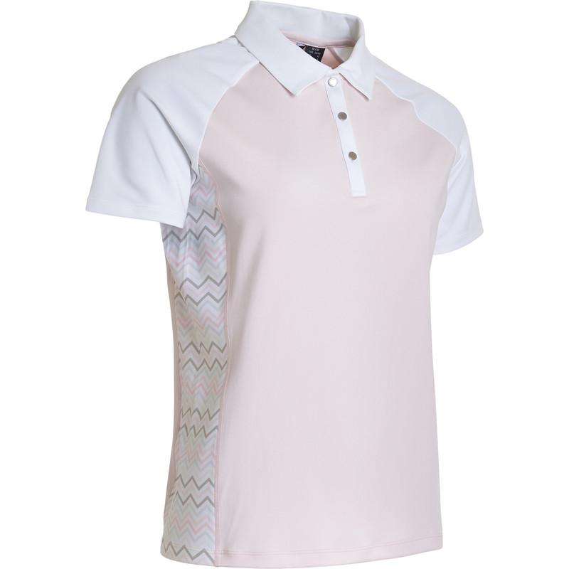 Abacus Emy Short Sleeve Polo - Herbal Zig Zag