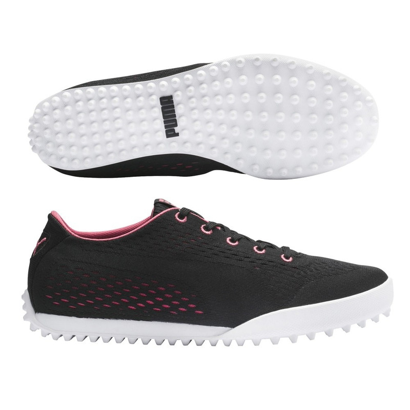 Puma Monolite Cat EM Golf Shoe - Black/Rapture Rose