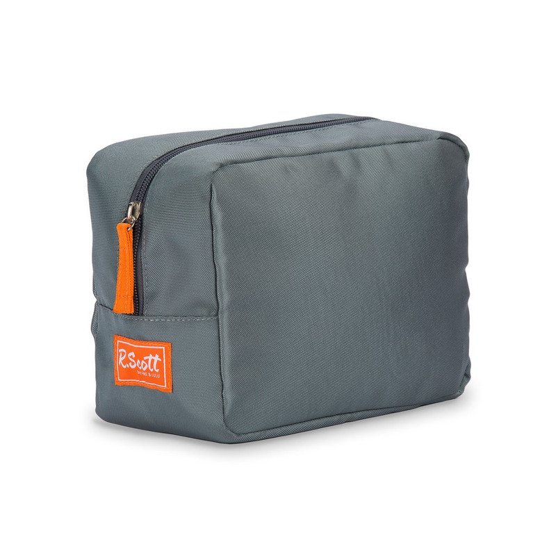 Ame & Lulu R.Scott Mens Dopp Kit - Grey/Orange