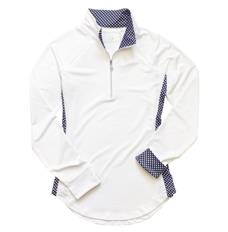 Kate Lord Jennings Long Sleeve Mock - White